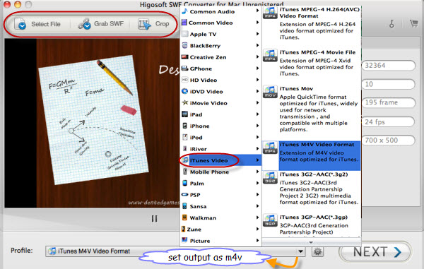 swf to itunes converter mac