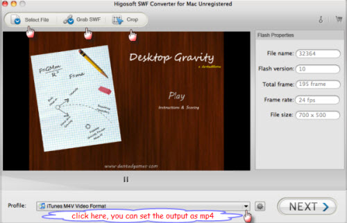 swf to mp4 converter for mac lion