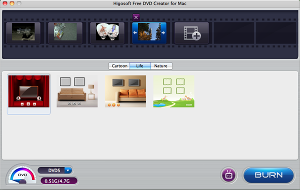 Higosoft Free DVD Creator for Mac full screenshot