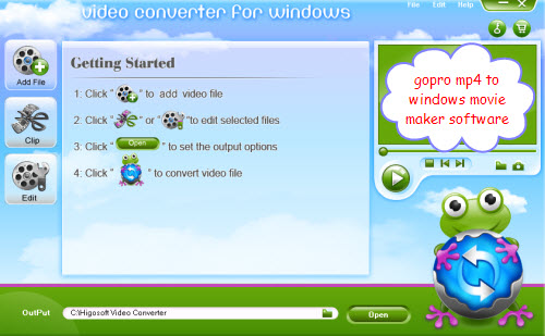 gopro video to windows movie maker converter