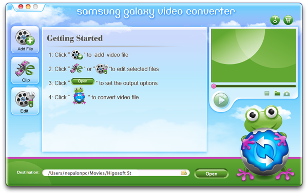Higosoft Samsung Galaxy Video Converter Mac