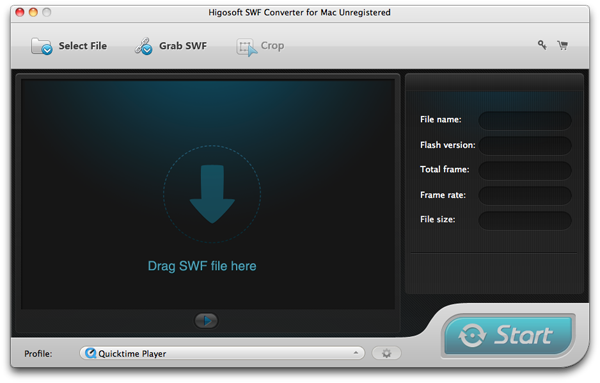 SWF Converter for Mac Screenshot